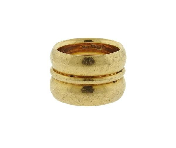 Fred 18K Gold Wide Band Ring