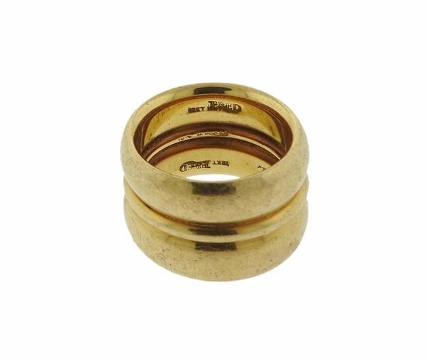 Fred 18K Gold Wide Band Ring - 2