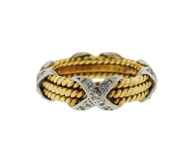 Tiffany & Co Schlumberger 18K Gold Platinum Diamond