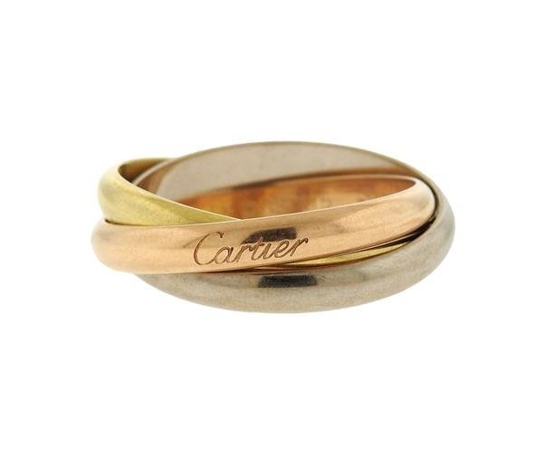 Cartier Trinity 18K Gold Rolling Band Ring