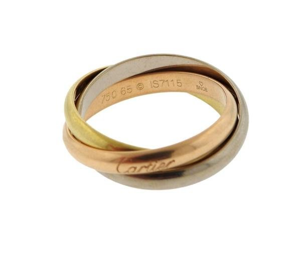 Cartier Trinity 18K Gold Rolling Band Ring - 2