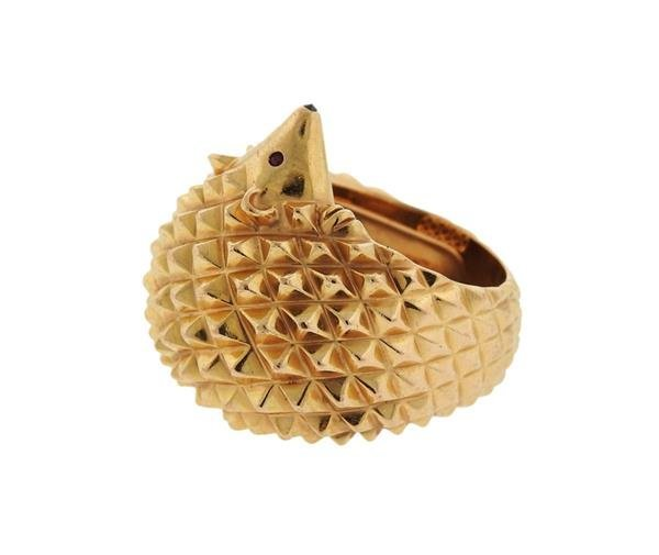 Boucheron 18K Gold Hans the Hedgehog Ring - 2