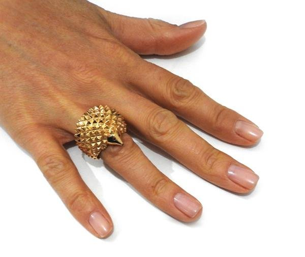 Boucheron 18K Gold Hans the Hedgehog Ring - 5