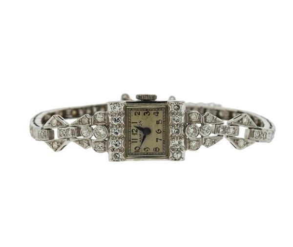 Hamilton Platinum Diamond Lady's Watch