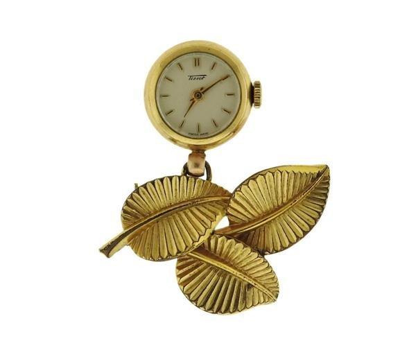 Tissot 14K Gold Lapel Watch