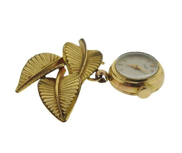 Tissot 14K Gold Lapel Watch - 2