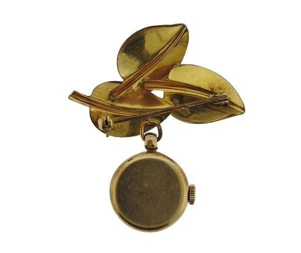 Tissot 14K Gold Lapel Watch - 3