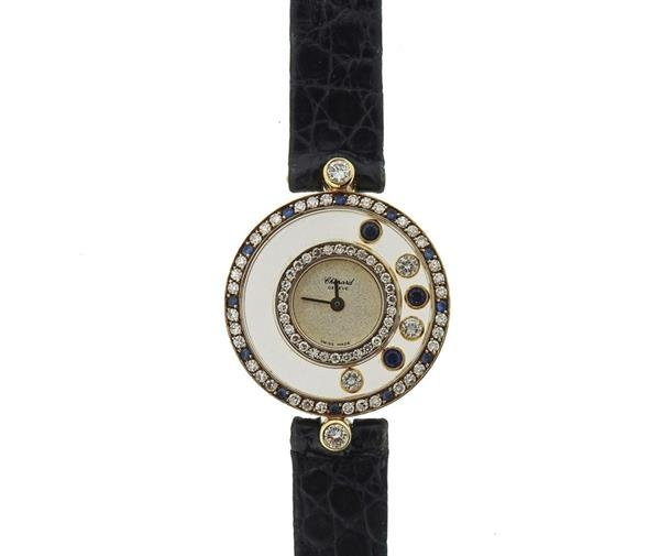 Chopard Happy Diamonds 18K Gold Sapphire Lady's - 2