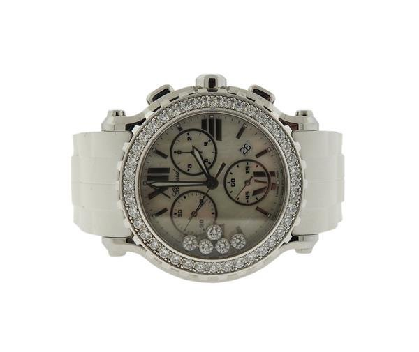 Chopard Happy Sport Diamond Chronograph Watch Ref. 8499