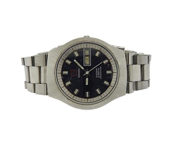 Omega Stainless Electronic Chronometer Watch