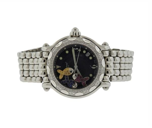 Chopard Happy Sport Sapphire Diamond Watch Ref. 8347