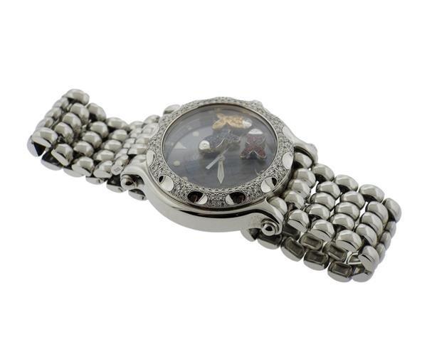 Chopard Happy Sport Sapphire Diamond Watch Ref. 8347 - 2