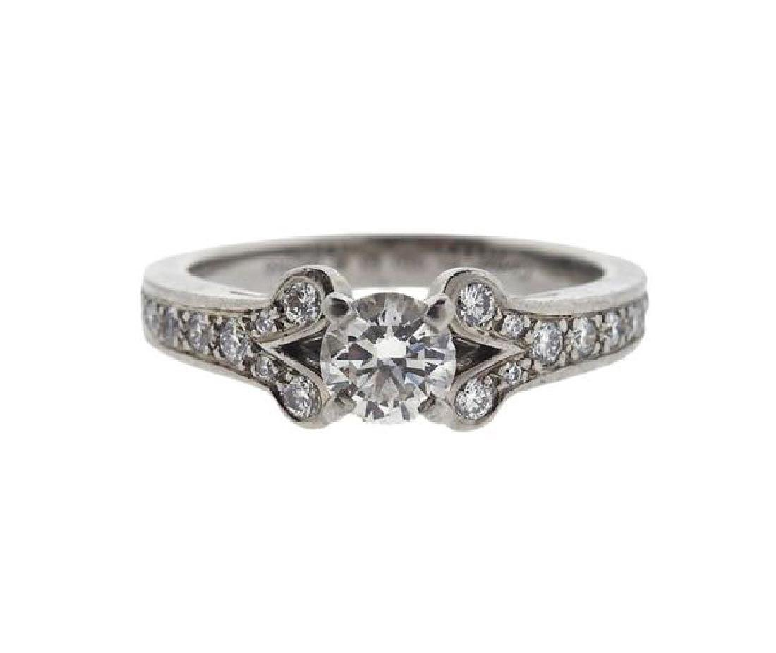 Cartier Platinum 0.60ct E IF Diamond Engagement Ring