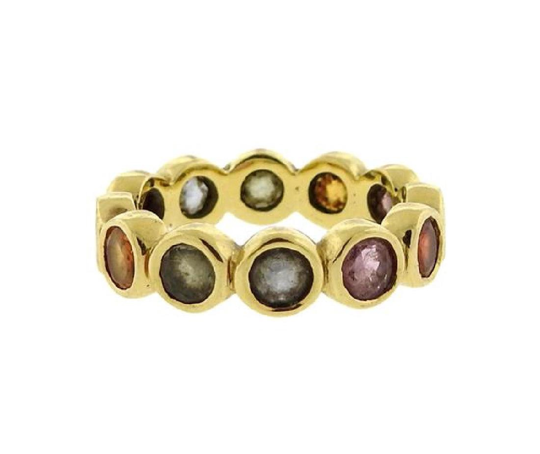 Temple St. Clair 18K Gold Sapphire Eternity Ring