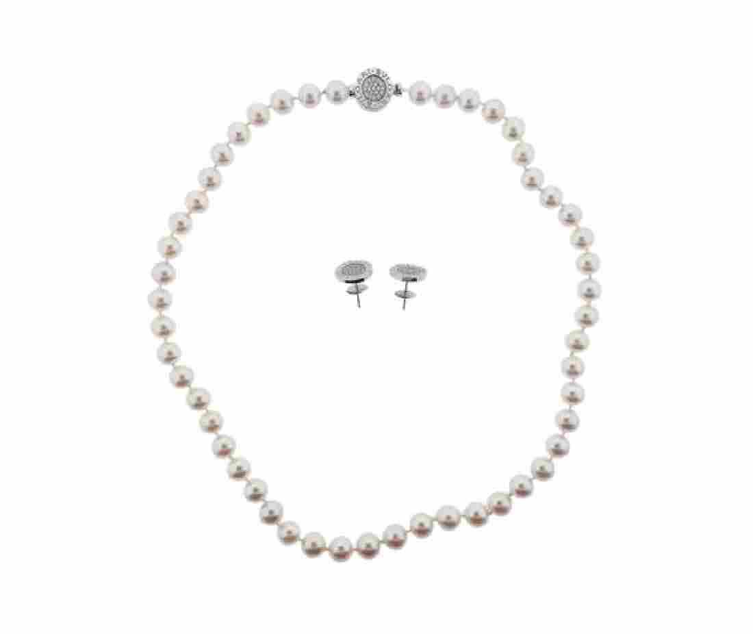 Bulgari Bvlgari 18K Gold Diamond Pearl Onyx Necklace