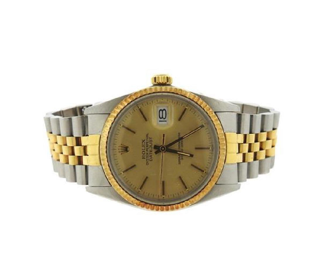 Rolex Date Oyster Perpetual Datejust Gold Steel Watch