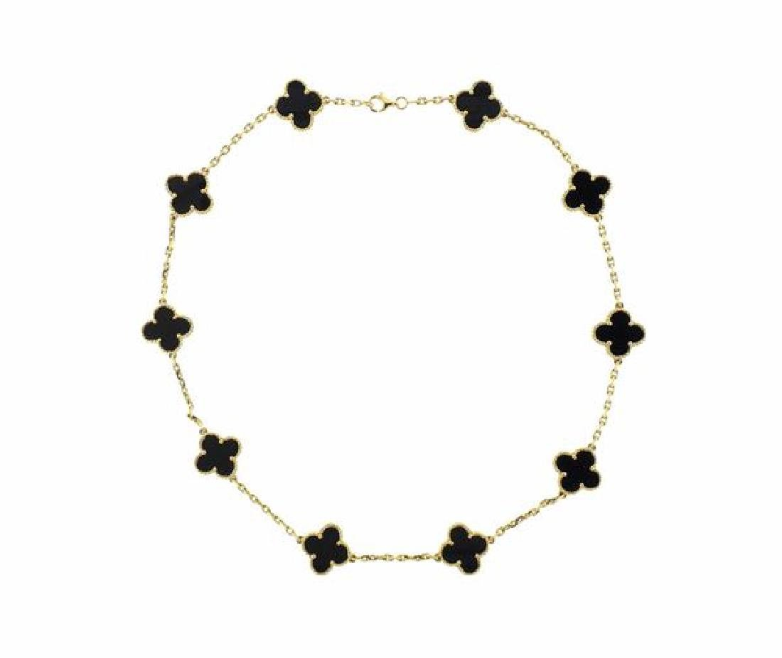 Van Cleef & Arpels Vintage Alhambra 18K Gold Onyx