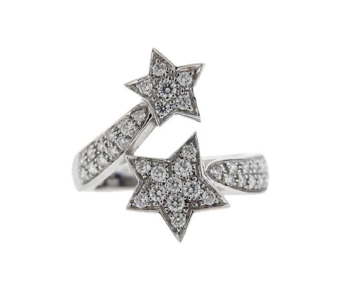 Chanel Comete 18K Gold Diamond  Star Ring