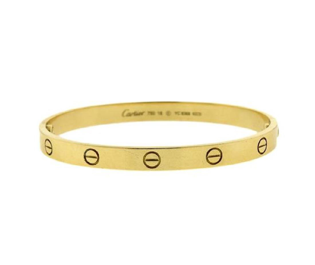 Cartier Love 18K Gold Bangle Bracelet