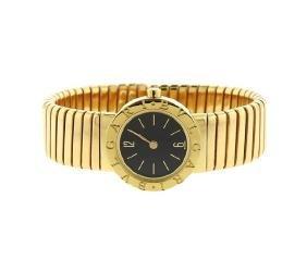 Bulgari Bvlgari Tubogas 18K Gold Lady's Watch