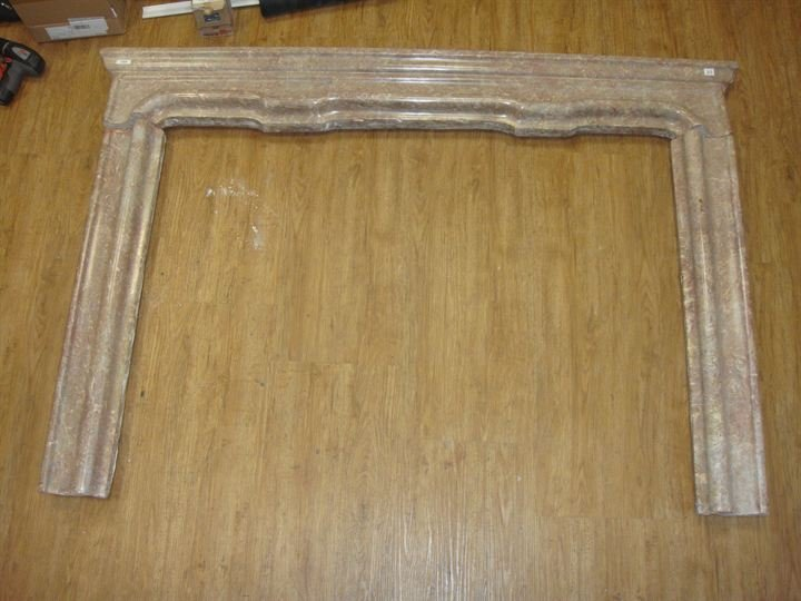 12: MARBLE FIREPLACE