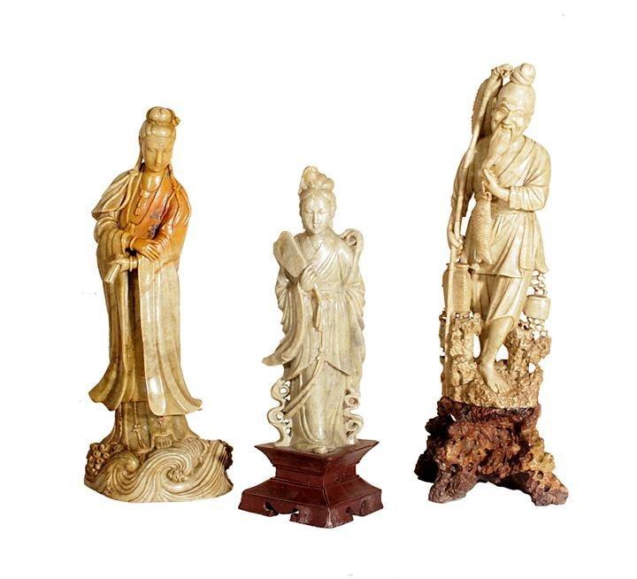 Lot of three sculptures