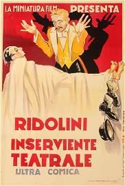 ANONIMO Ridolini inserviente teatrale