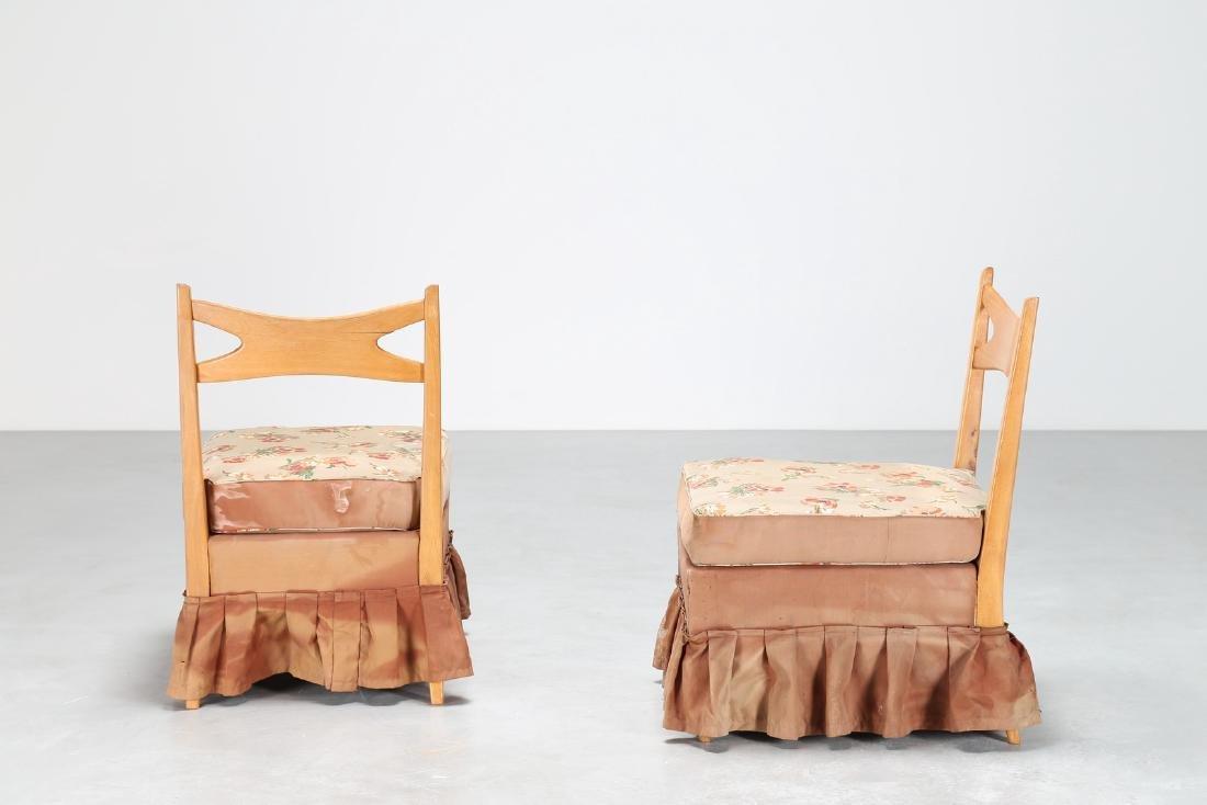 PAOLO BUFFA Coppia di poltroncine in legno e tessuto - 2