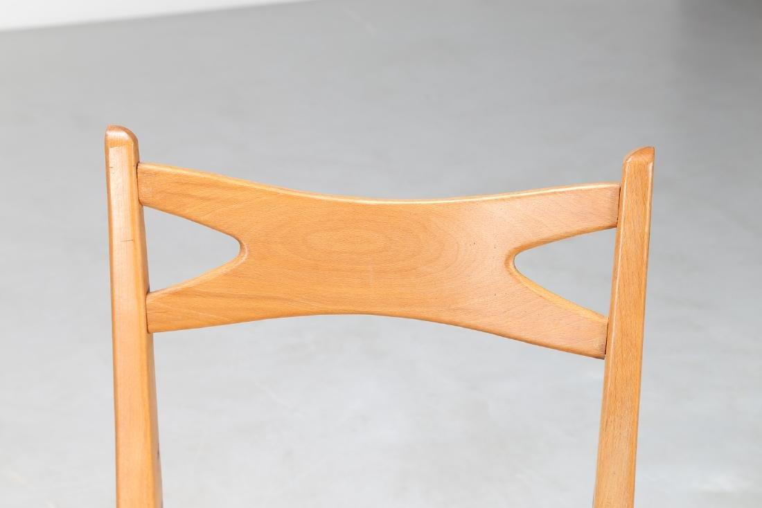 PAOLO BUFFA Coppia di poltroncine in legno e tessuto - 3