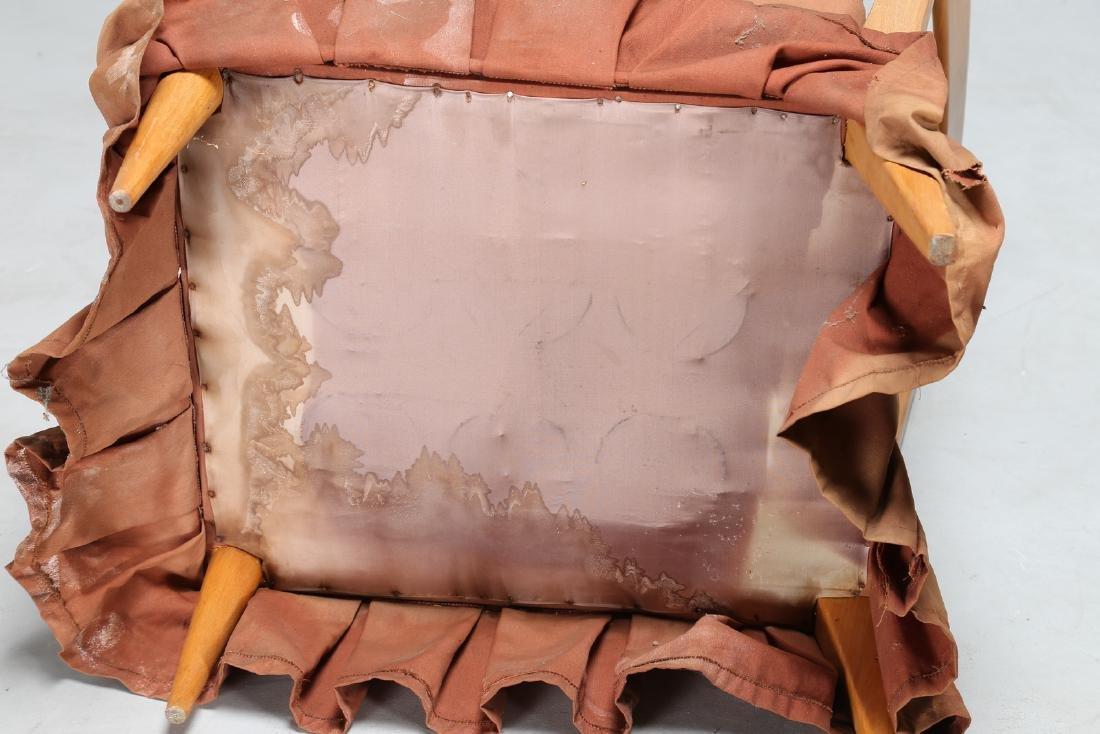 PAOLO BUFFA Coppia di poltroncine in legno e tessuto - 4