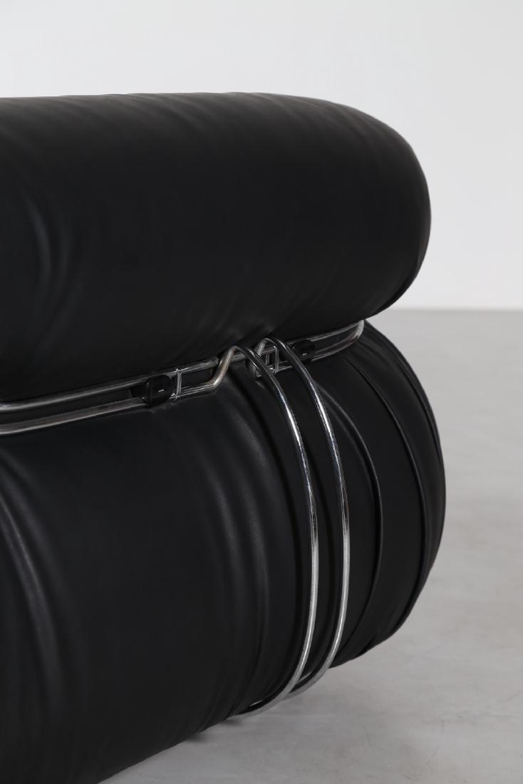 AFRA & TOBIA SCARPA Divano in acciaio cromato plastica - 7