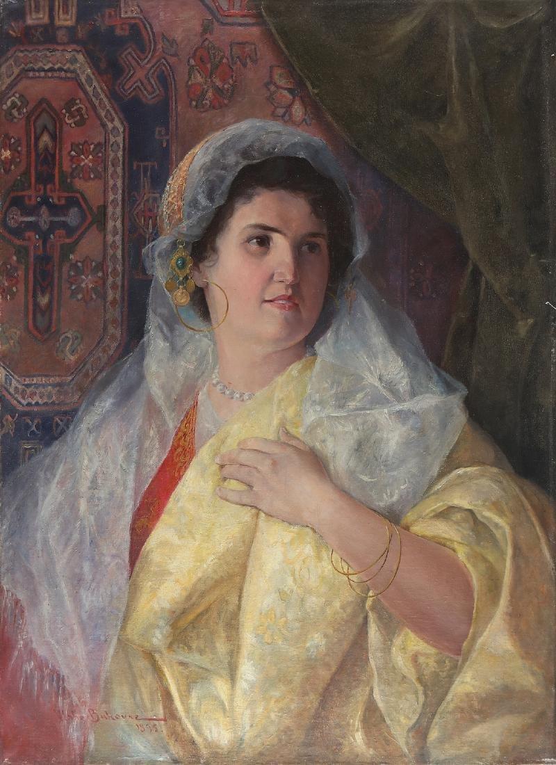VLAHO BUKOVAC Ritratto di donna.