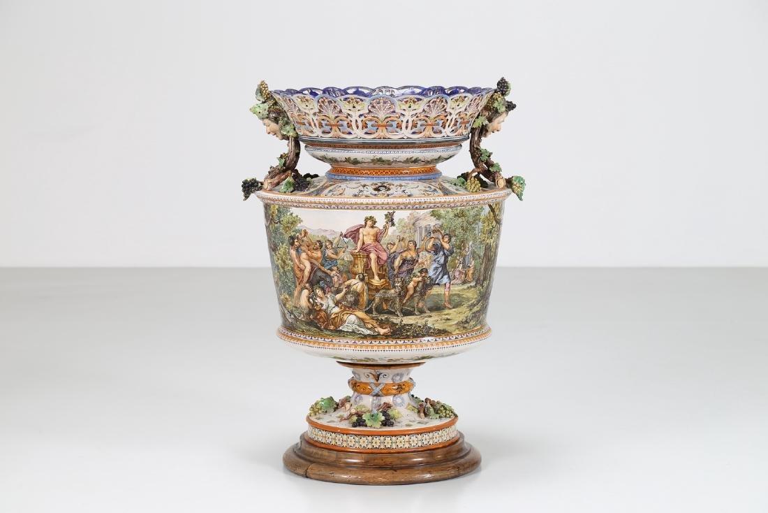 GINORI A DOCCIA (XIX SECOLO)  Imponente Vaso Ginori, in