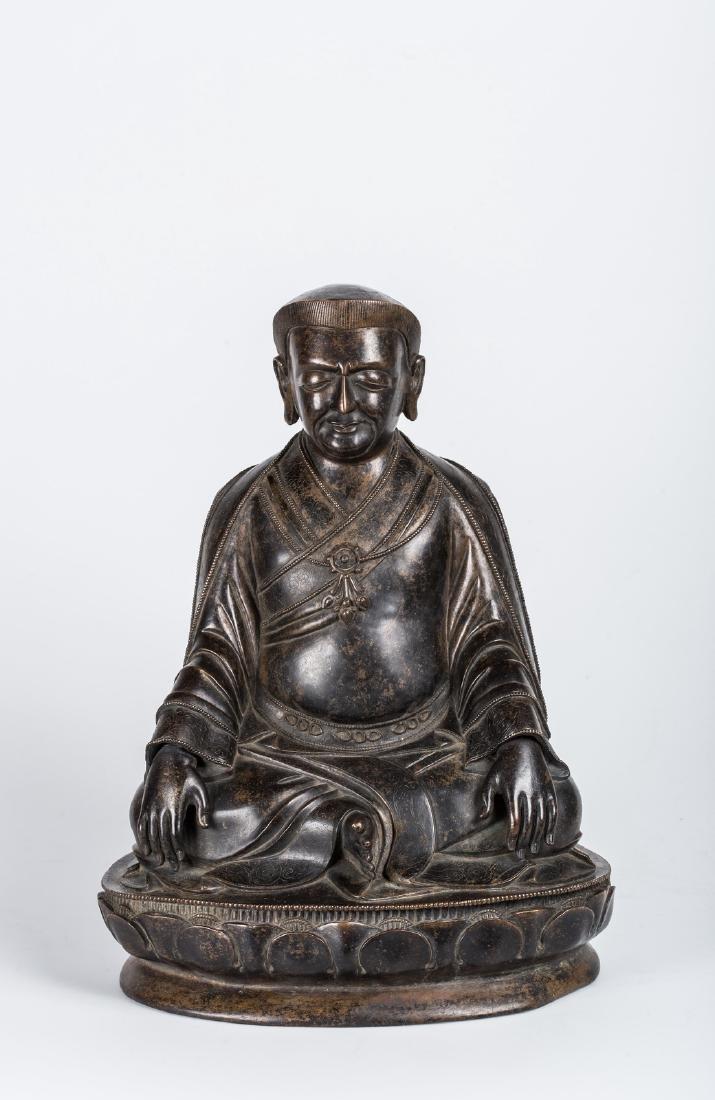 Arte Cinese  A bronze figure of Marpa Lotsawa
