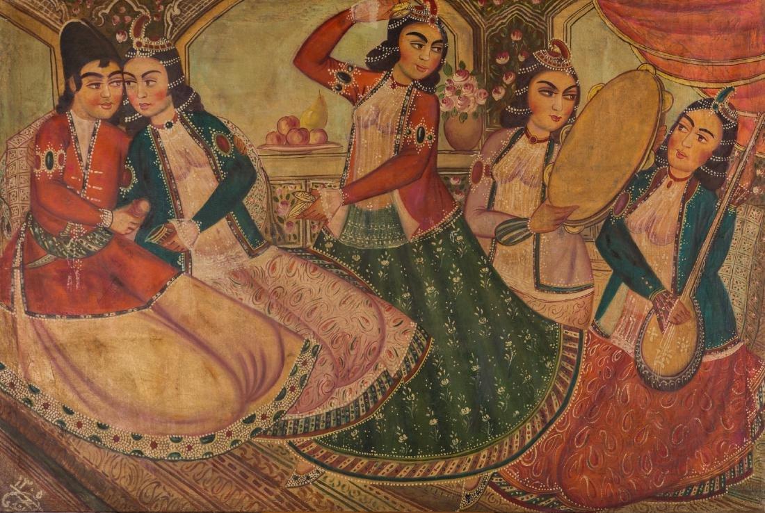 Arte Islamica  Lashgari. Coffe House Painting Zoliekha