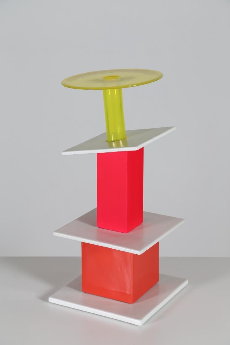 ETTORE SOTTSASS Hoopoe, vase ceramic glass sculpture,