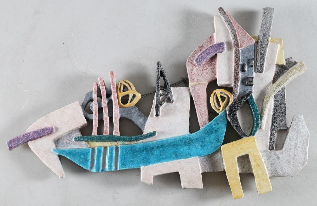 GIOVAN BATTISTA MITRI Ceramic sculture, The Boat, anni