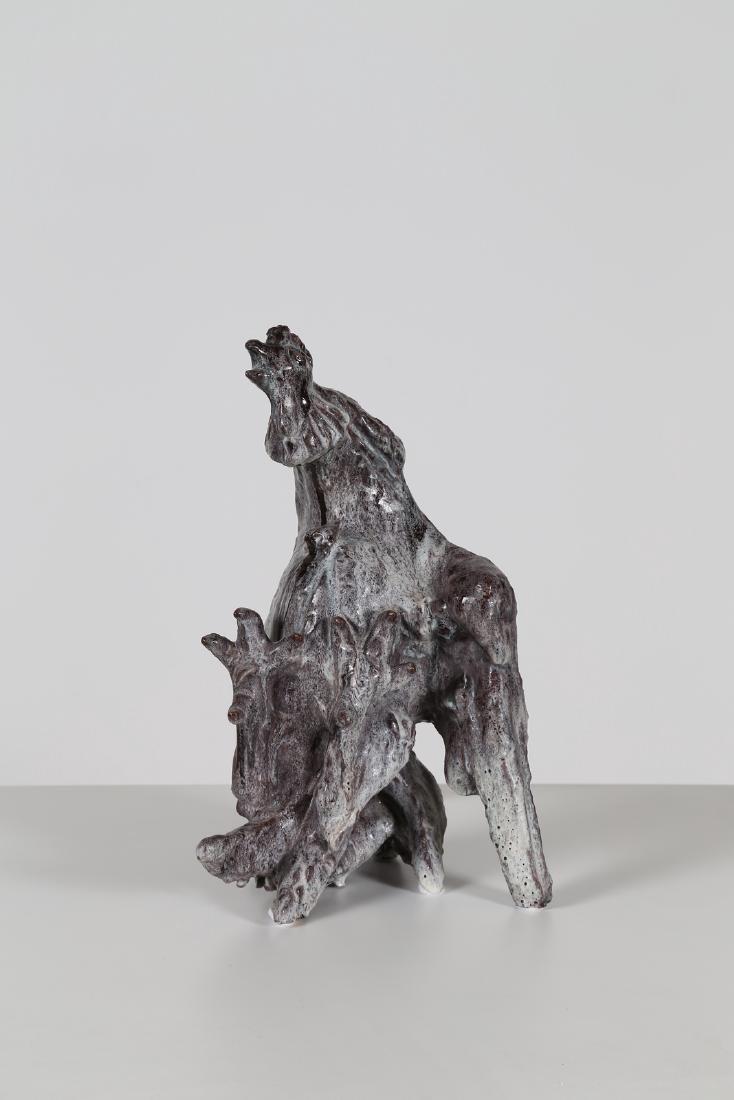 GIOVAN BATTISTA MITRI Ceramic sculture, The Rooster,