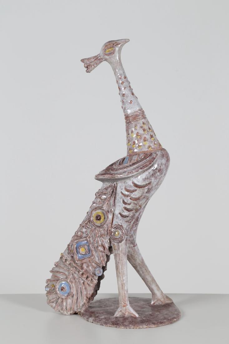 GIOVAN BATTISTA MITRI Ceramic sculture, The Peacock,