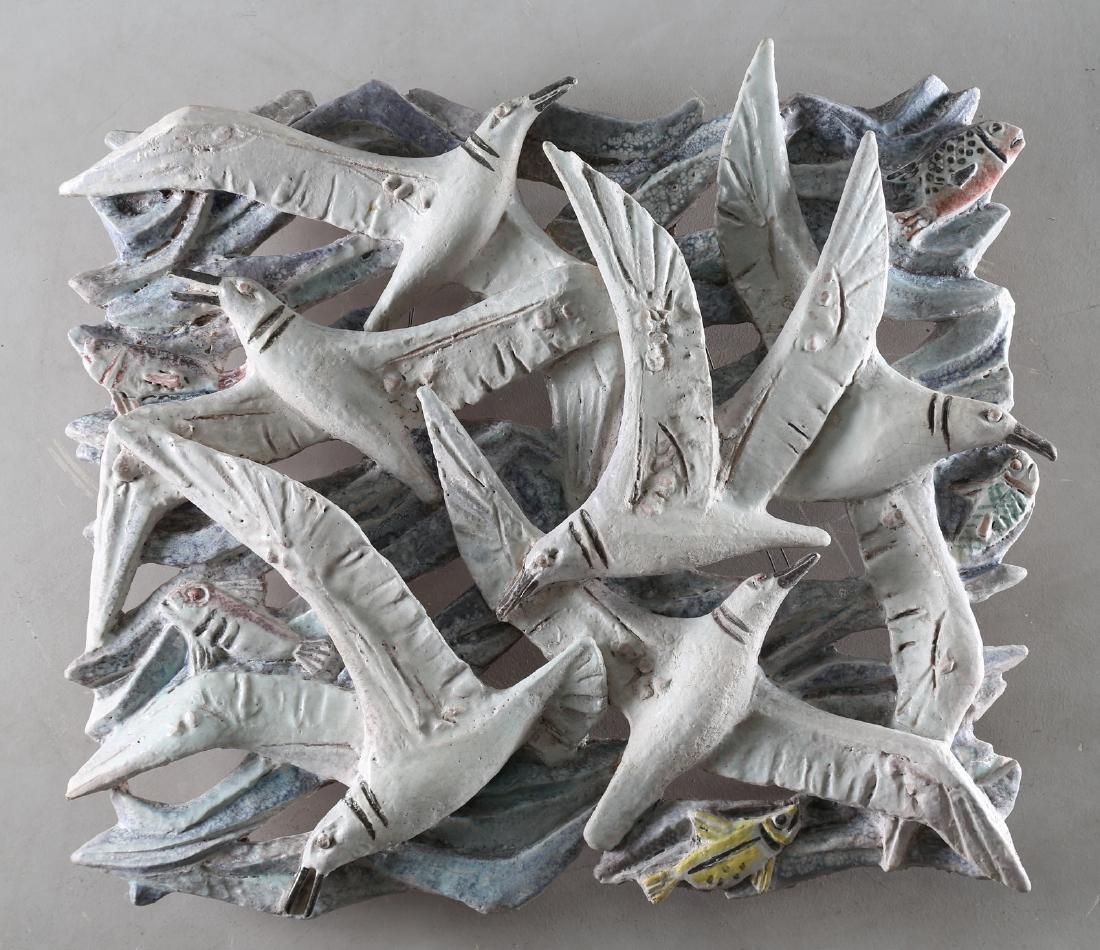 GIOVAN BATTISTA MITRI Ceramic sculture, Seagulls and