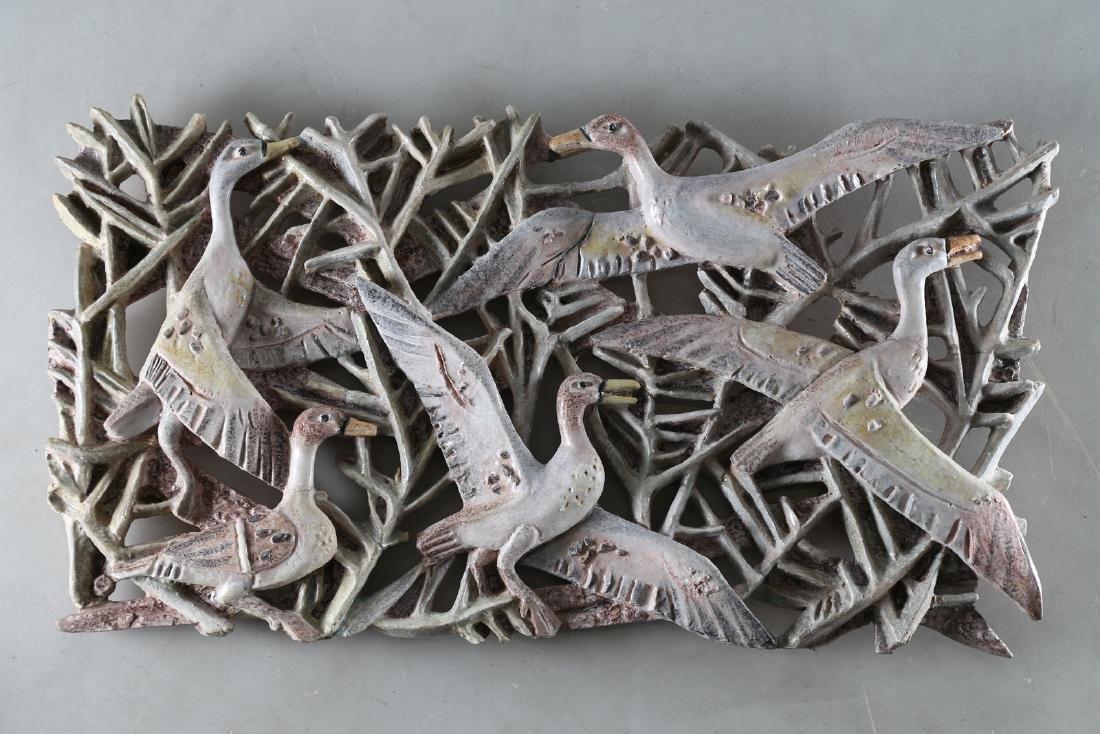 GIOVAN BATTISTA MITRI Ceramic sculture, Ducks, 50's..
