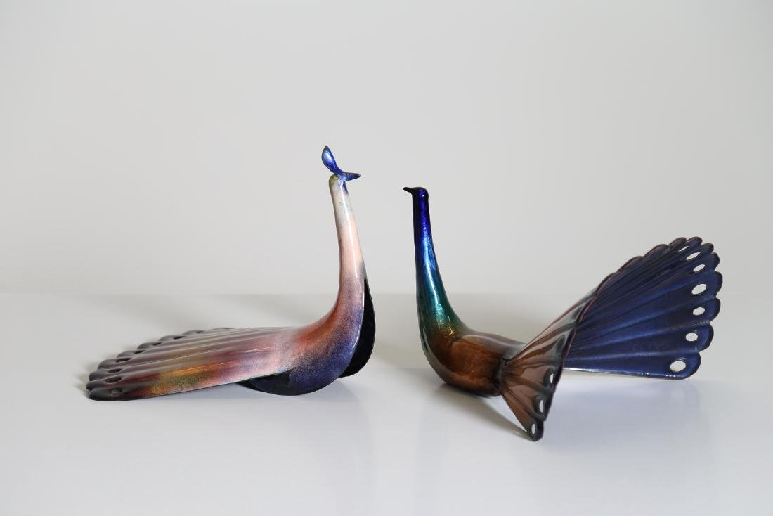 PAOLO DE POLI Pair of enameled copper male and female