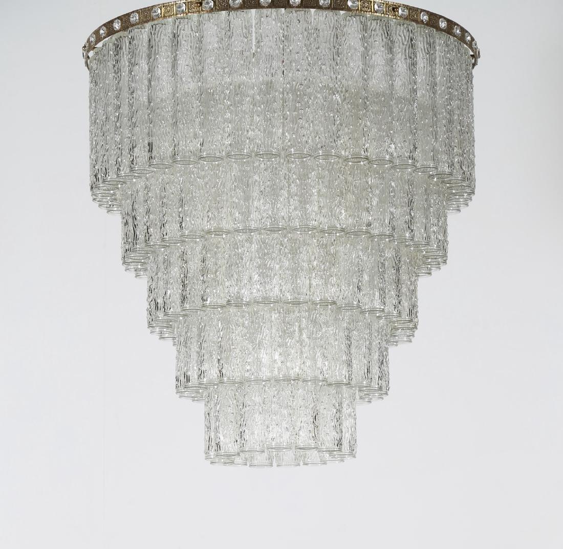 MANIFATTURA MURANO Dew glass chandelier, 50's..