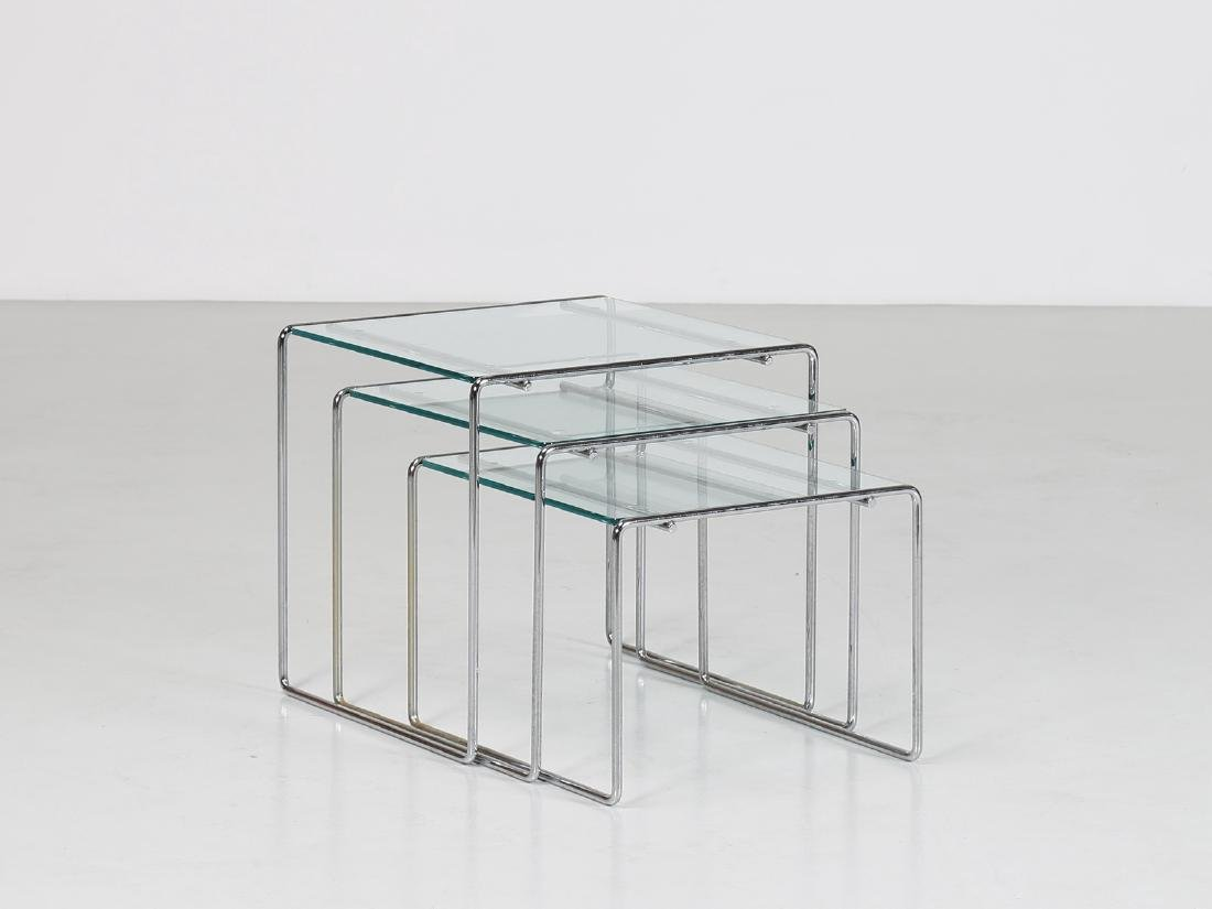 KAZUHIDE TAKAHAMA Chromed metal and glass stackable