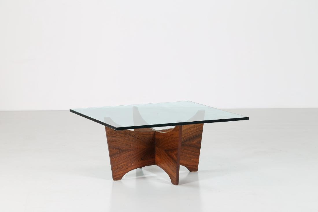 POUL CADOVIUS Rosewood table with crystal level..