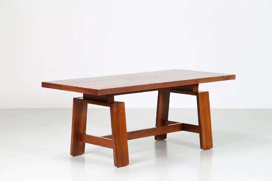 SILVIO COPPOLA Walnut table, for Bernini, 60's..