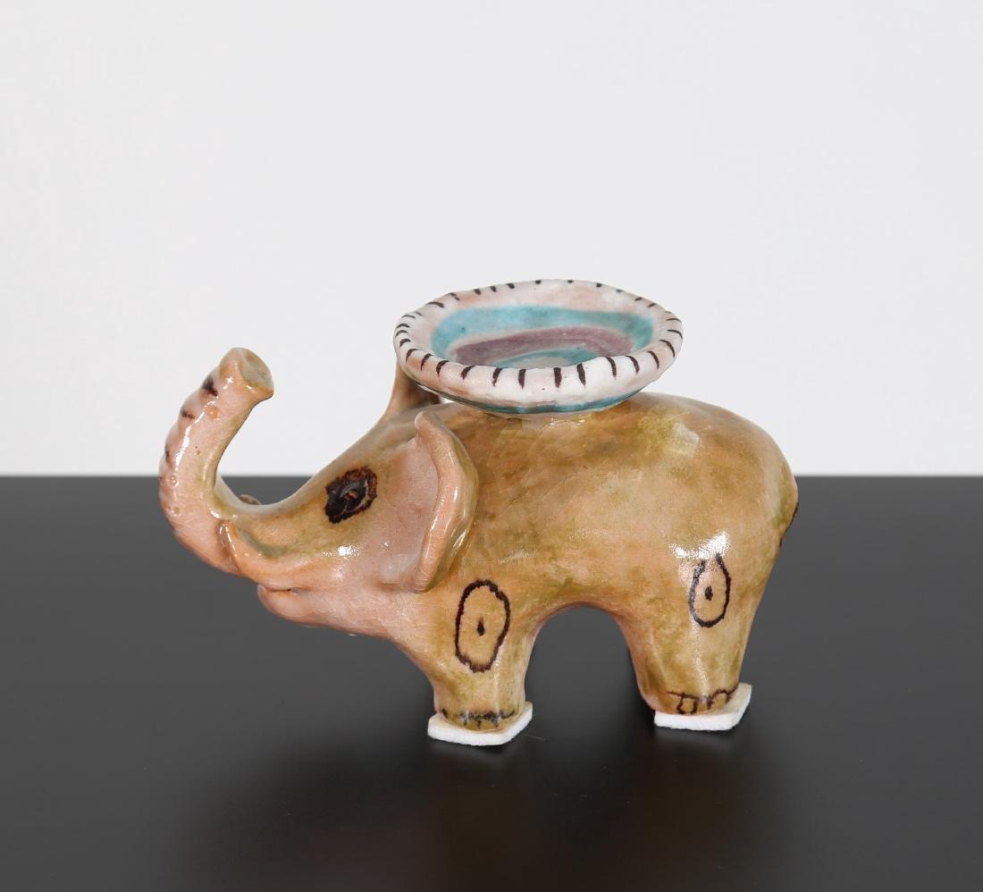 GUIDO GAMBONE Elefantino in ceramica.