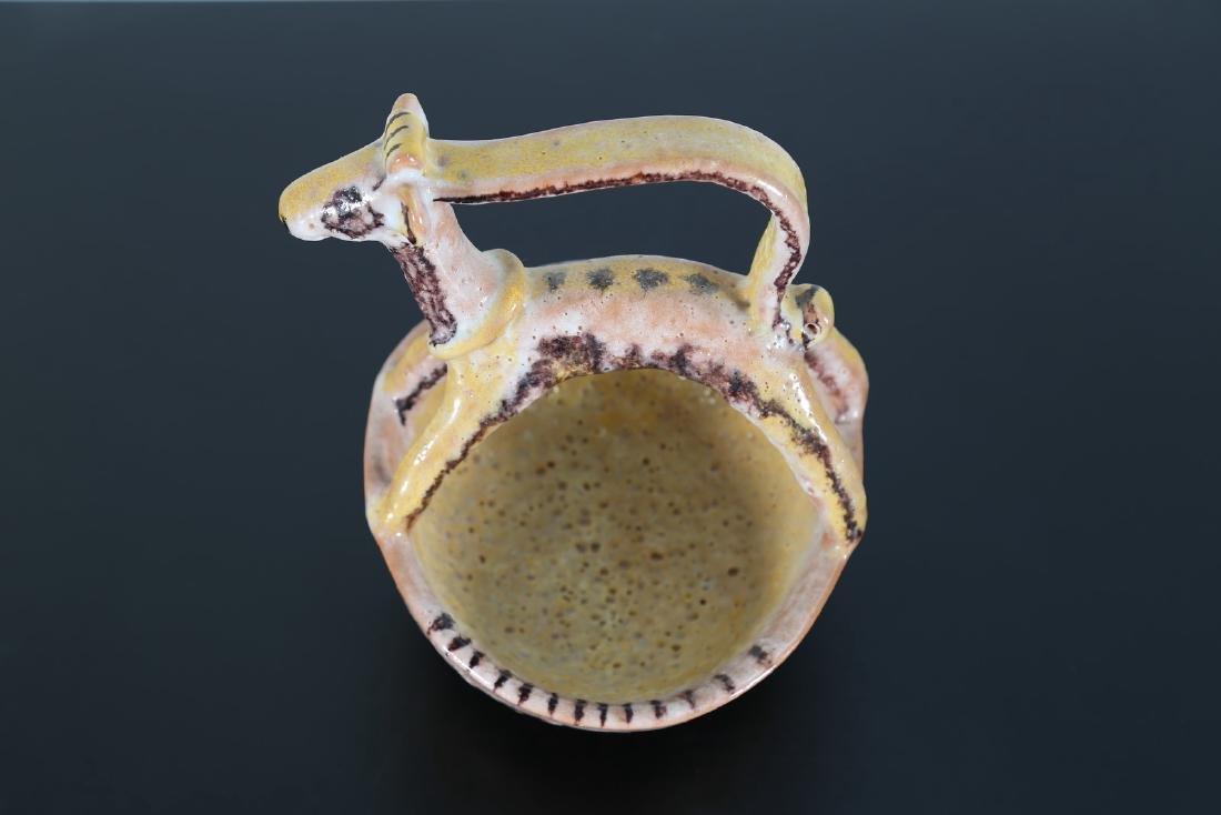 GUIDO GAMBONE Ciotola con cane in ceramica, anni'50. - 3