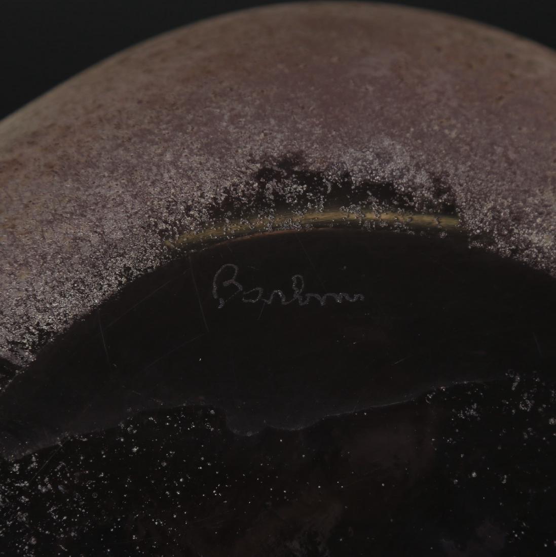 ALFREDO BARBINI Ciotola in vetro scavo acidato e - 4