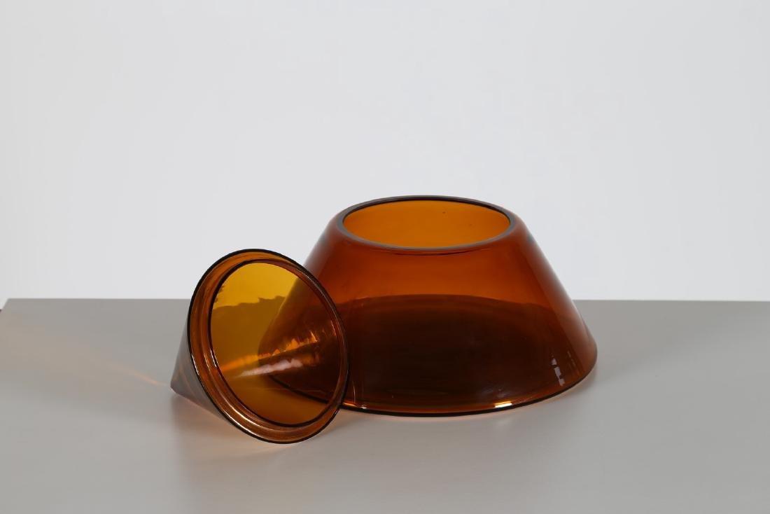 CARLO NASON Contenitore piramidale in vetro ambra, per - 2